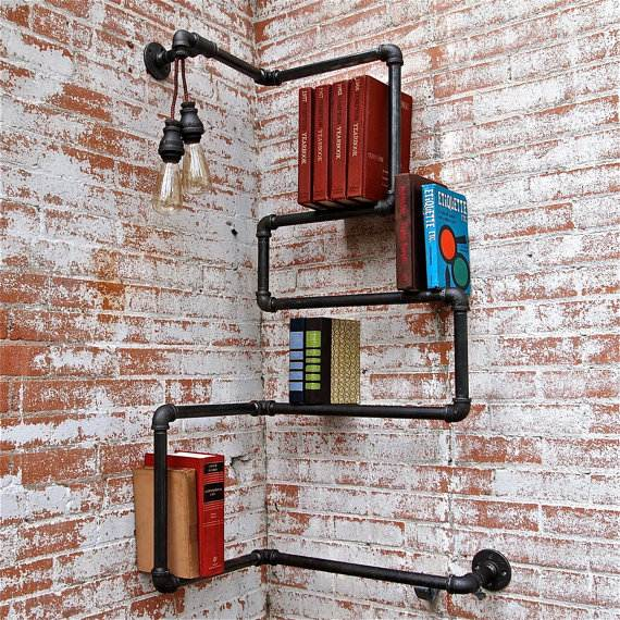Bücherregal Rohre